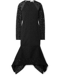 Opening Ceremony - Stretch-cloqué And Sequined Tulle Midi Dress - Lyst