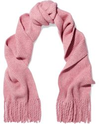 Rag & Bone - Francie Ribbed Merino Wool-blend Scarf - Lyst