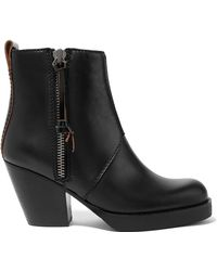 Acne Studios - The Pistol Leather Ankle Boots - Lyst
