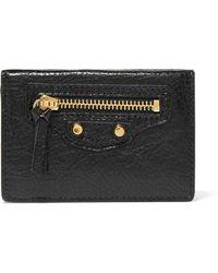 Balenciaga - Classic City Mini Textured-leather Wallet - Lyst