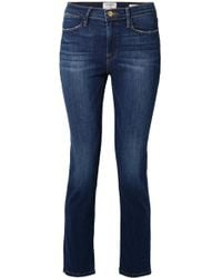 FRAME - Le High Cropped Straight-leg Jeans - Lyst