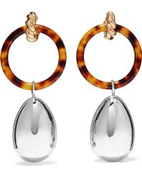 Balenciaga - Gold And Palladium-tone Resin Earrings - Lyst