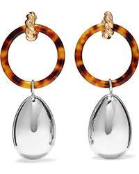 Balenciaga - Gold And Palladium-tone Resin Earrings - Lyst