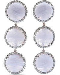 Kimberly Mcdonald - 18-karat White Gold, Agate And Diamond Earrings - Lyst