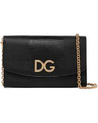 Dolce & Gabbana - Lizard-effect Leather Shoulder Bag - Lyst
