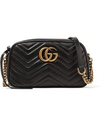 Gucci - Gg Marmont Camera Small Quilted Leather Shoulder Bag - Lyst