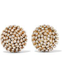 Rosantica - Strobo Gold-tone Crystal Clip Earrings - Lyst