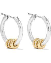 Spinelli Kilcollin - Ara Sterling Silver, 18-karat Gold And Diamond Hoop Earrings - Lyst