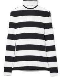 CALVIN KLEIN 205W39NYC - Striped Stretch-jersey Turtleneck Top - Lyst