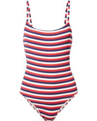 Solid & Striped - The Nina Striped Ribbed Stretch-knit Swimsuit - Lyst