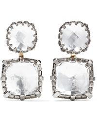 Larkspur & Hawk - Sadie Rhodium-dipped Quartz Earrings - Lyst