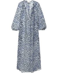 Marios Schwab - Bonaire Printed Silk-georgette Maxi Dress - Lyst