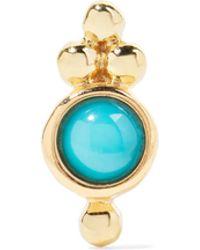 Maria Tash - Trinity 14-karat Gold Turquoise Earring - Lyst