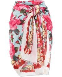 Dolce & Gabbana | Printed Cotton-gauze Pareo | Lyst