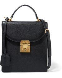 Mark Cross - Uptown Textured-leather Shoulder Bag - Lyst