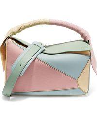 Loewe - Puzzle Color-block Leather Shoulder Bag - Lyst