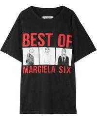 MM6 by Maison Martin Margiela - Printed Cotton-jersey T-shirt - Lyst