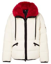 3 MONCLER GRENOBLE Faux Fur Trim Padded Jacket - White