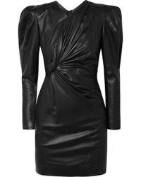 Isabel Marant - Cobe Leather Minidress - Lyst