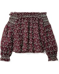 Giambattista Valli - Off-the-shoulder Embroidered Cotton-blend Tulle Blouse - Lyst