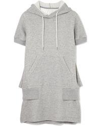 Sacai - Hooded Cotton-blend Jersey Dress - Lyst