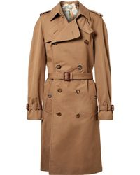 Gucci - Appliquéd Cotton-blend Gabardine Trench Coat - Lyst