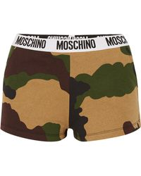 Moschino - Camouflage-print Cotton-jersey Boy Shorts - Lyst