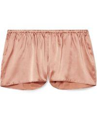I.D Sarrieri - Silk-blend Satin Pyjama Shorts - Lyst