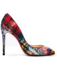 Christian Louboutin - Pigalle Follies 100 Bouclé-tweed Court Shoes - Lyst