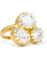 Pippa Small - 18-karat Gold Crystal Ring - Lyst