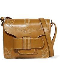 Trademark - Greta Embroidered Leather Shoulder Bag - Lyst