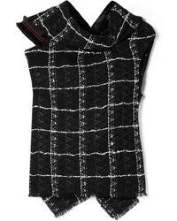 Roland Mouret - Eugene Open-back Draped Cotton-blend Tweed Top - Lyst