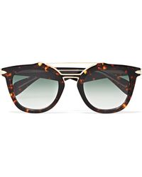 Rag & Bone - Cat-eye Tortoiseshell Acetate And Gold-tone Sunglasses - Lyst