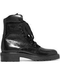 Saint Laurent - William Ankle Boots Aus Glanzleder - Lyst