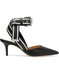 Monse - Striped Leather Court Shoes - Lyst