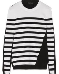 Rag & Bone - Cecilee Striped Merino Wool-blend And Stretch-knit Jumper - Lyst