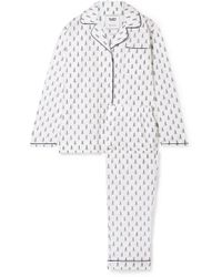Sleepy Jones - Bishop Printed Cotton-poplin Pyjama Set - Lyst