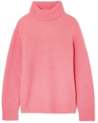 Cedric Charlier - Ribbed Wool And Cashmere-blend Turtleneck Sweater - Lyst