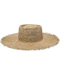Lack of Color - Sunnydip Frayed Straw Boater - Lyst