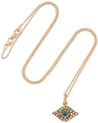 Ileana Makri - Kitten Eye 18-karat Rose Gold Multi-stone Necklace - Lyst