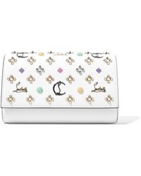 Christian Louboutin - Paloma Embellished Textured-leather Clutch - Lyst