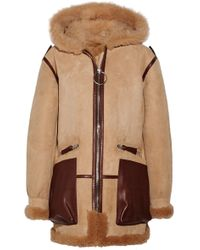 Acne Studios - Lorin Hooded Leather And Shearling-trimmed Suede Coat - Lyst