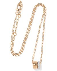 Pomellato - Iconica 18-karat Rose Gold Diamond Necklace - Lyst