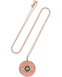 Ileana Makri - Dawn 18-karat Rose Gold, Diamond And Sapphire Necklace - Lyst