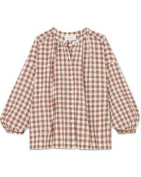 The Great - The Handsome Oversized Gingham Cotton-voile Shirt - Lyst