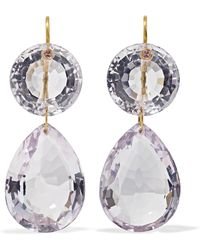 Marie-hélène De Taillac - Girandole 22-karat Gold Amethyst Earrings Gold One Size - Lyst