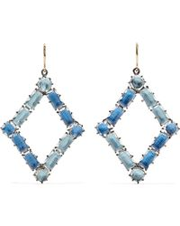 Larkspur & Hawk - Caterina Rhodium-dipped Quartz Earrings - Lyst
