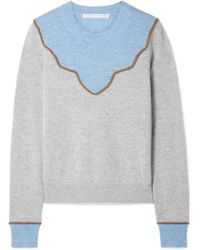 Veronica Beard - Atty Color-block Cashmere Sweater - Lyst