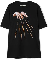 Off-White c/o Virgil Abloh - Embroidered Printed Cotton-jersey T-shirt - Lyst