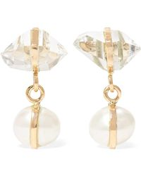 Melissa Joy Manning - 14-karat Gold, Herkimer Diamond And Pearl Earrings - Lyst